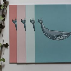 This print is perfect for adding a splash of colour to your room. You can also enjoy the grandeur of the big blue whale - what a beautiful creature! #print #design #drawing Big Blue Whale, Whale Print, Color Splash, Print Design, Creatures, Colour, Drawings, Room, Prints