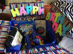 Birthday care package to boyfriend away in the navy!