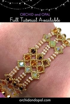 Beaded Bracelets Tutorial, Beaded Bracelet Patterns, Seed Bead Bracelets, Bracelet Designs, Beaded Earrings, Seed Beads, Seed Bead Jewelry Tutorials, Netted Bracelet, Seed Bead Projects