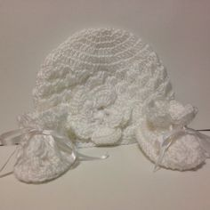 White Crochet Baby Going Home from the Hospital set by IRSOROCRAFT on Etsy