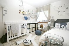 Gender Neutral Star Wars Nursery - love this light and bright version that isn't too cartoony or theme-y!
