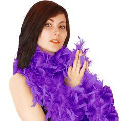Purple Deluxe Feather Boa 80g - 180cm