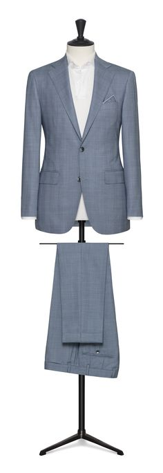 light blue prince of wales check suit Made To Measure Suits, Renewing Vows, Checked Suit, Prince Of Wales, Light Blue, Blazer, Business, Jackets, Travel