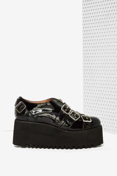 Jeffrey Campbell Ausplex Patent Leather Creeper | Shop Shoes at Nasty Gal!