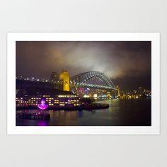 Vivid Bridge Art Print by Nicholas Smith - $15.60