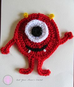 Knot Your Nana's Crochet: Miles the Monster Applique