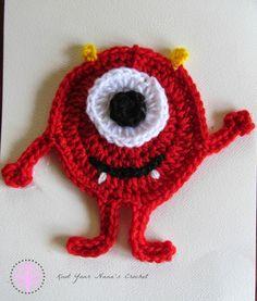 Knot Your Nana's Crochet: Miles the Monster Applique