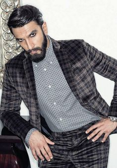 Ranveer Singh (Filmfare) Photographed by Abhay Singh Bollywood Photos, Bollywood Actors, Ranveer Singh Beard, Deepika Ranveer, Deepika Padukone, Bohemian Style Men, Mens Hairstyles With Beard, Beard Look, Designer Suits For Men