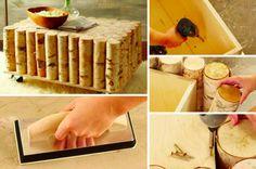 Comment faire une table à café en rondins de bois