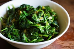 Indian Spiced Spinach @cleaneating #glutenfree #paleo #spinach