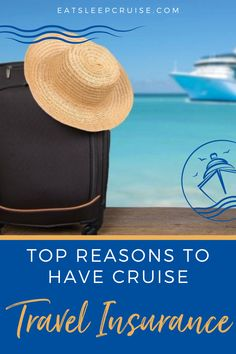 If you are planning a cruise vacation, you know it is an investment before you even sail. Are you wondering if you should get insurance to cover unforeseen circumstances? Here we share 6 reasons you should get travel insurance for a cruise. From a pre-cruise emergency to port of call difficulties, and so much more. Insurance is designed to protect your investment and give you peace of mind. No matter the company, get quotes and pick your best option to ensure you are prepared. Packing List For Cruise, Cruise Tips, Cruise Travel, Cruise Vacation, Cruise Excursions, Cruise Destinations, Cruise Ship Reviews, Cruise Pictures, Best Cruise