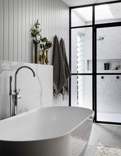 Contemporary bathrooms look clean cut and fresh, always with stylish details too, to pull the finishing look together. Modern contemporary bathrooms can. Bathroom Renos, Bathroom Layout, Modern Bathroom Design, Bathroom Interior Design, Bathroom Renovations, Home Interior, Small Bathroom, Bath Design, Modern Design