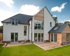 Image result for wood cladding and render and brick
