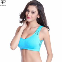 292a37317d4190 B.BANG Women Hollow Out Sports Bra Mesh Push up Sport Bra Yoga Fitness Vest  Bra Workout Running Tank Top Bra-in Sports Bras from Sports & Entertainment  on ...