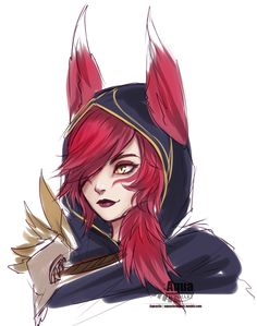 [LoL] Xayah by AquaLeonhart
