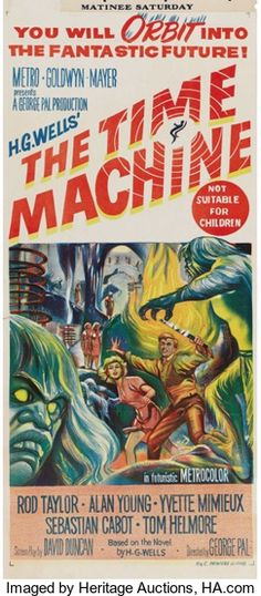 """Movie Posters:Science Fiction, The Time Machine (MGM, 1960). Australian Daybill (13.25"""" X 30"""").Rod Taylor and Yvette Mimieux star in this adaptation of H...."""