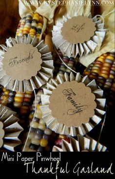 Under The Table and Dreaming: Mini Pinwheel Thankful Garland Banner