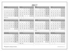 Calendrier  2017 à imprimer, gratuit. Calendrier annuel : Albertus (L). La semaine commence le lundi