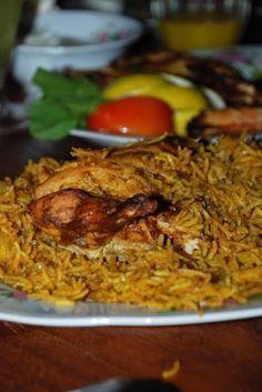 Machboos Dajaj/Chicken in Yellow Rice - Emirati Food