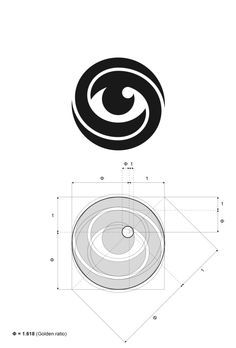 For me the Golden rule in logo design is that form has to follow function and I designed Mobius eye logo without intention to apply Golden rule principle. But after geometric construction and proportion measurements I was amazed that the iris light reflection part is exactly where horizontal, vertical and diagonal axes intersects in Golden ratio. Nice coincidence, don't you think?  – Jan Zabransky