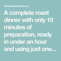 A complete roast dinner with only 10 minutes of preparation, ready in under an hour and using just one tray (so hardly any washing up). Chicken wrapped in parma ham with potatoes, parsnips, carrots, peas and even the gravy! Chicken Wraps, Roast Chicken, Parma Ham, Roast Dinner, Healthy Chicken, Turkey Recipes, Gravy, Carrots, Potatoes
