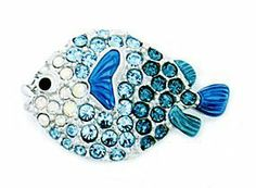 Signed Swarovski Retired Multi Blue Blow Fish Pin Brooch Rhodium/crystal with Enamel New with Tag by Swarovski Crystals. $95.00. Signed Swarovski Retired Multi Blue Blow Fish Pin Brooch Rhodium/crystal with Enamel New with Tag. Signed Swarovski Retired Multi Blue Blow Fish Pin Brooch Rhodium/crystal with Enamel New with Tag