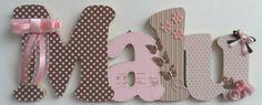 Nome decorado em MDF e Scrap personalizado para decoração de quarto, porta maternidade, festas... Tema e cores a sua escolha R$ 57,20