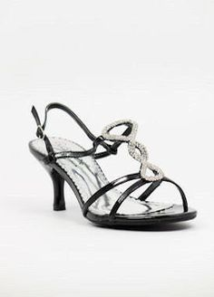 """Black Prom shoes with 2 1/2"""" heels (Style 700-2)"""