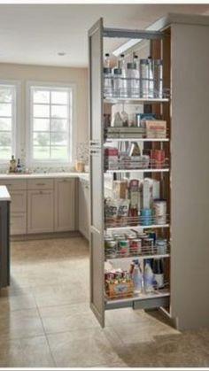 Industrial Kitchen Design, Kitchen Pantry Design, Modern Kitchen Design, Home Decor Kitchen, Interior Design Kitchen, Diy Kitchen, Kitchen Ideas, Pantry Ideas, Ikea Kitchen Pantry