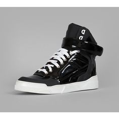 Givenchy Sneakers ($1,015) ❤ liked on Polyvore featuring shoes, sneakers, black, black hi top sneakers, black shoes, black high top sneakers, high top shoes and black hi tops