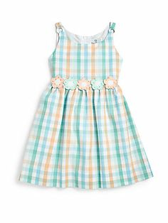 Florence Eiseman Toddler's & Little Girl's Floral Gingham Dress