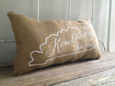 University of Kentucky burlap pillow My Old by TwoPeachesDesign, $29.00- this is very easy, all u need is a plain color pillow and paint pin or perminat marker, stincils