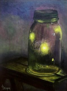16 best Fireflies images on Pinterest   Fireflies  Glow worms and     Canned Fireflies by Lisa Lea Bemish