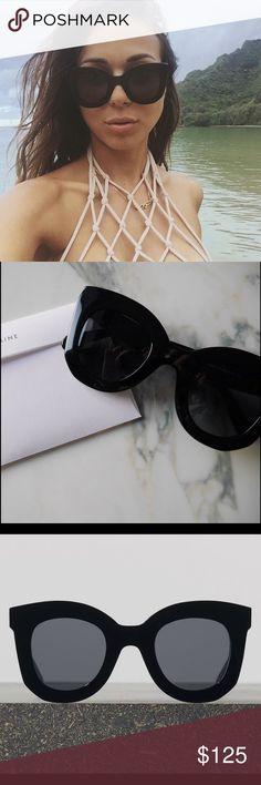 3b4b29b15 Céline Baby Marta Sunglasses in Acetate, Black Original Céline Baby Marta  Sunglasses in black acetate