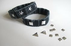 DIY bracelet made of old jeans