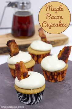 Bacon makes everything better...even cupcakes!  These Maple Bacon Cupcakes are absolutely delicious!!