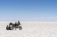 Sometimes a vast expanse can be as comforting as a crowded room...  via @openexplorers #Touratech #MadeForAdventure #R1200GS #BMW #ZegaPro by touratechusa