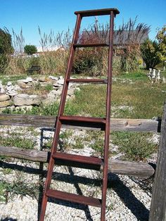 Vintage Wooden 6 Step Ladder Shelf  70 tall  by ARusticGarden, $52.95