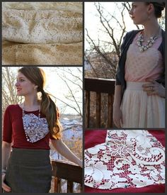do it yourself divas: DIY: Lovey Lace Sweetheart Shirt - Refashioned t-shirt