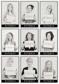 Fake mug shot photos from  bachelorette party for bridal,party keepsake!! Funny