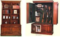 Attirant Patriot II   Small Bookcase With Hidden Gun Cabinet | Pinterest | Small  Bookcase, Patriots And Guns