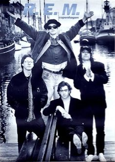 R.E.M. Copenhagen Rock Poster. I had an enormous version of this poster on my wall.