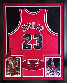 6bcc02a4f0ab Michael Jordan Framed Jersey Signed UDA COA UpperDeck Red Chicago Bulls  Upper... at Amazon s Sports Collectibles Store