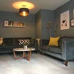 My living room. Denim Drift by Dulux