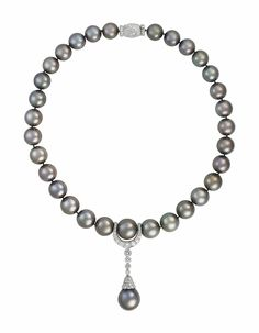 COLOURED CULTURED PEARL AND DIAMOND NECKLACE, CARTIER | Jewelry, necklace | Christie's