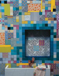 dcoracao.com - blog de decoração: PATCHWORK DE AZULEJOS
