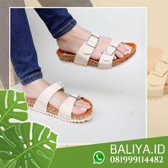 Jual Sandal Wedges Sandal Wedges, Flat Sandals, Wedge Sandals, Flats, Kebaya, Birkenstock, Bali, Espadrilles, Casual