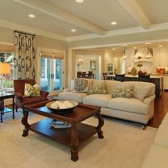 Bright warm living room