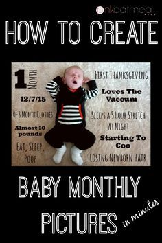 How to make your own Baby Monthly Pictures - Pink Oatmeal
