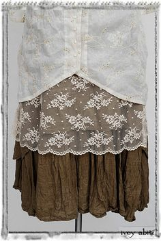 pretty to add lace to the hem of a shirt, layer